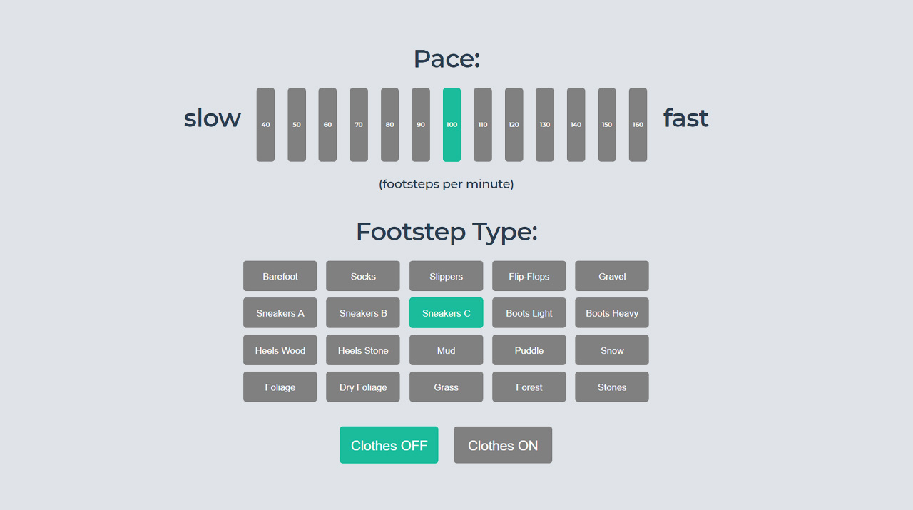 Interactive Web Audio: The Footsteps Generator