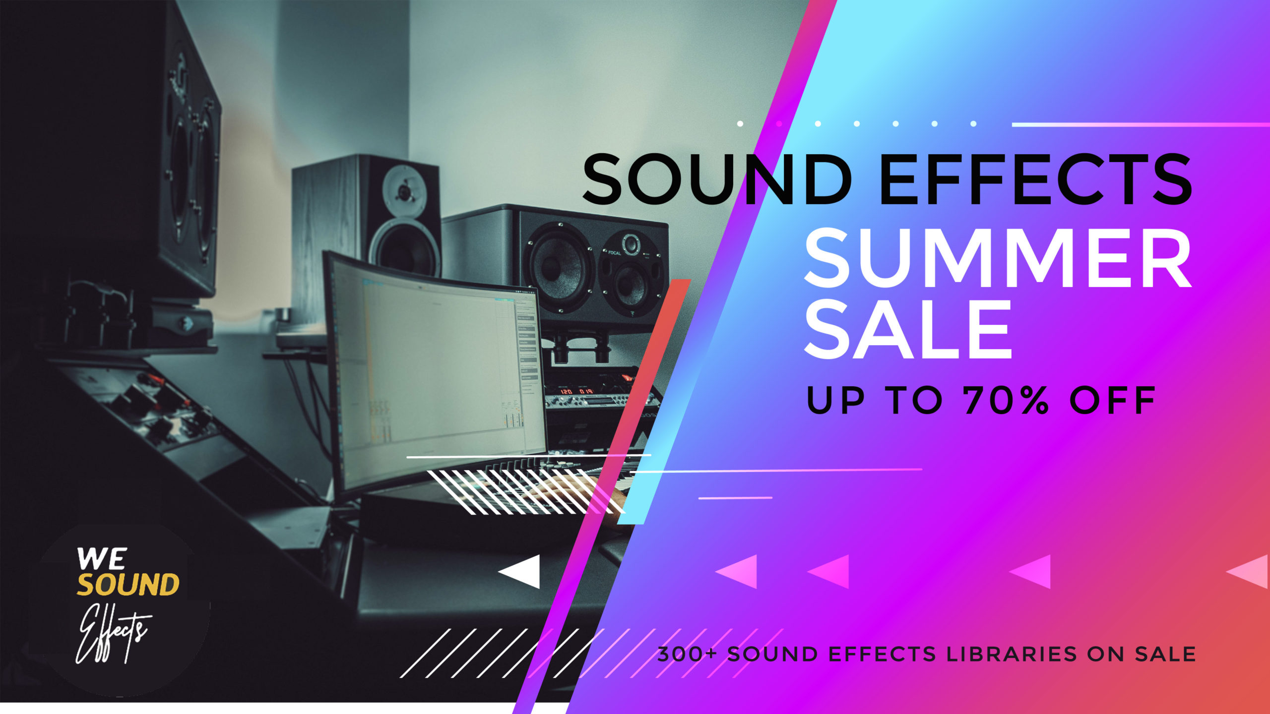 We Sound Effects Summer Sale up to 70% OFF