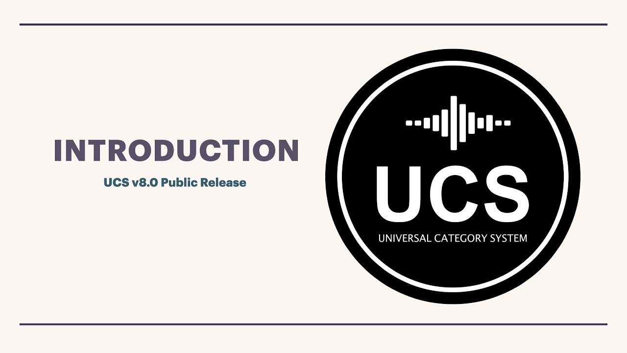 Universal Category System | A Step Forward Into The Future Of Sound Effects Libraries